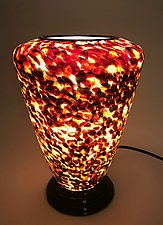 Tortoise Shell Lamp by Curt Brock (Art Glass Table Lamp)