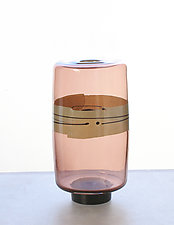 Enso Drum Vase in Autumn by Richard S. Jones (Art Glass Vase)
