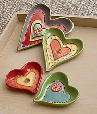 Heart Dishes by Laurie Pollpeter Eskenazi (Ceramic Dish)