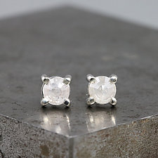 4.5mm Rose Cut Diamond Earrings by Sarah Hood (Gold & Stone Earrings)