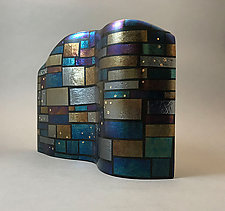 Squares, Rectangles, and Bubbles by Sabine  Snykers (Art Glass Sculpture)