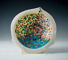 Vivid Confetti Porcelain Bowl by Carol Barclay (Ceramic Bowl)