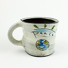 Peace Mug by Noelle VanHendrick and Eric Hendrick (Ceramic Mug)