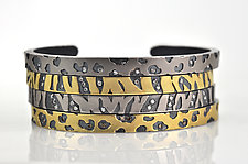 Zebra & Cheetah Print Cuffs by Rebecca  Myers (Gold or Palladium Bracelet)