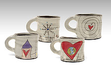 Love Message Mugs by Noelle VanHendrick and Eric Hendrick (Ceramic Mug)