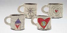 Love Message Mugs by Noelle VanHendrick and Eric Hendrick (Ceramic Mug)