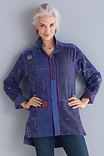 Pieced Shirt Jacket by Mieko Mintz  (Woven Shirt)