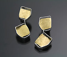 Bouncing Links Earrings by Sana  Doumet (Gold & Silver Earrings)