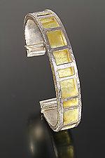 Radiance Cuff by Sana  Doumet (Gold & Silver Bracelet)