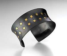 Quilted Cuff by Tom McGurrin (Silver & Gold Bracelet)