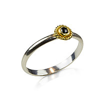 Soho Stacking Rings by Nancy Troske (Gold, Silver & Stone Ring)