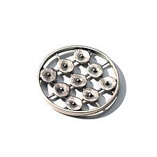 Circles in Motion Pin by Virginia Stevens (Silver Pin)