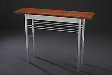 Fluid Dynamics by Carol Jackson (Wood & Aluminum Console Table)