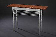 Fluid Dynamics by Carol Jackson (Wood & Aluminum Console Table)