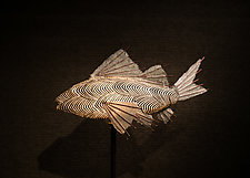 Illusion Koi Lamp by Lara Fisher (Mixed-Media Lamp)
