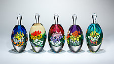 Violet Landscape Series Perfume by Shawn Messenger (Art Glass Perfume Bottle)