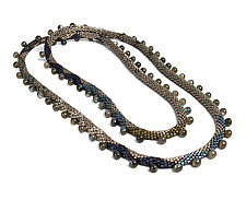 Sea Serpent Labradorite Beaded Necklace by Julie Long Gallegos (Beaded Necklace)