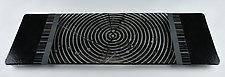 ColorCentric Black Serving Plank by Terry Gomien (Art Glass Platter)