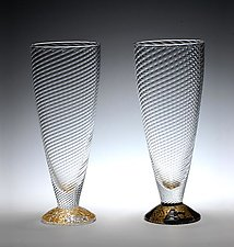Water Glasses by Tom Stoenner (Art Glass Drinkware)