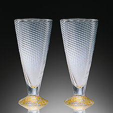 Wine Cups by Tom Stoenner (Art Glass Drinkware)