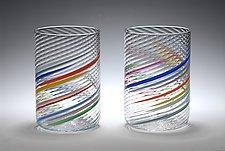 Big Glasses by Tom Stoenner (Art Glass Tumblers)