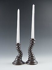 Balancing Candlesticks by Lilach Lotan (Ceramic Candleholders)