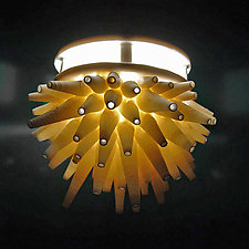 Spikes Pendant Lamp by Lilach Lotan (Ceramic Pendant Lamp)