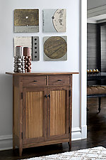 Zebra Two-Drawer Side Cabinet by Tom Dumke (Wood Cabinet)