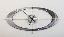 Oculus Clock by Ken Girardini and Julie Girardini (Metal Clock)