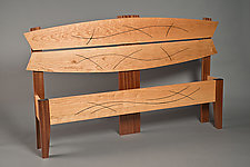 Queen Size Line Design Bed by David Kellum (Wood Bed)