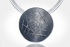 Free-Form Circle Necklace by Suzanne Schwartz (Silver Necklace)
