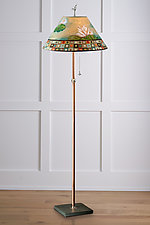 Lily Mosaic Copper Floor Lamp by Janna Ugone (Mixed-Media Floor Lamp)