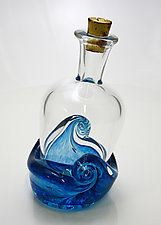 Message in a Bottle by Michael Richardson, Justin Tarducci, and Tim Underwood (Art Glass Sculpture)