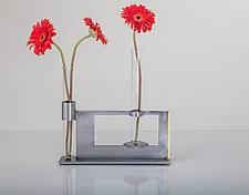 Finestra Double Vase & Candleholder by Ken Girardini and Julie Girardini (Metal Candleholder or Vase)