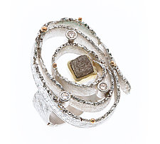 Oval Nido Ring by Davide Bigazzi (Gold, Silver & Stone Ring)