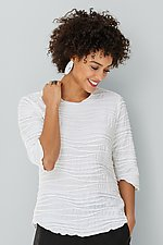 Fiore Classic Shirttail Top by Carol Turner  (Knit Top)