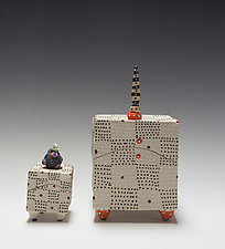 Square Chex Box by Vaughan Nelson (Ceramic Box)