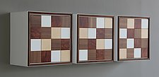 Rubix Wall Cabinet Natural by Kevin Irvin (Wood Cabinet)