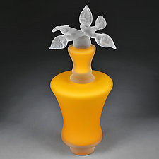 Novi Zivot (New Life) Satin Marigold Tall Vortex by Eric Bladholm (Art Glass Vessel)