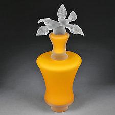 Novi Zivot (New Life) Satin Marigold Tall Vortex by Eric Bladholm (Art Glass Vessel)