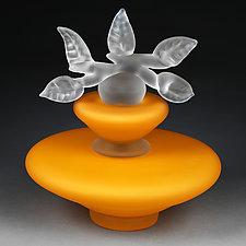 Novi Zivot (New Life) Satin Sunrise Large Trapezoid by Eric Bladholm (Art Glass Vessel)
