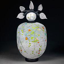 Vesnyani Kvity (Spring Flowers) II by Eric Bladholm (Art Glass Vessel)