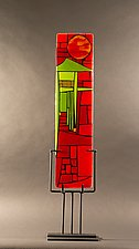 Home III by Vicky Kokolski and Meg Branzetti (Art Glass Sculpture)