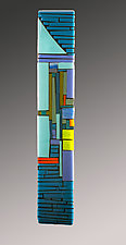 Narrow Courtyard by Vicky Kokolski and Meg Branzetti (Art Glass Wall Sculpture)