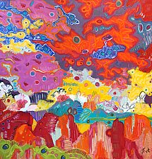 Rainbow Clouds by Jeff  Ferst (Oil Painting)