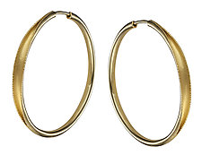 Fabulous Hoop Earrings in Gold by Ayesha Mayadas (Gold Earrings)
