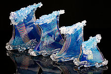 Crashing Waves by Benjamin Silver (Art Glass Sculpture)