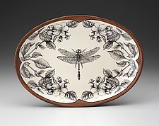 Oval Platter: Dragonfly by Laura Zindel (Ceramic Platter)