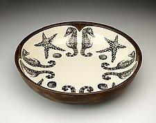 Pasta Bowl: Seahorse by Laura Zindel (Ceramic Bowl)