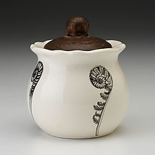 Sugar Bowl: Coiled Wood Fern by Laura Zindel (Ceramic Jar)